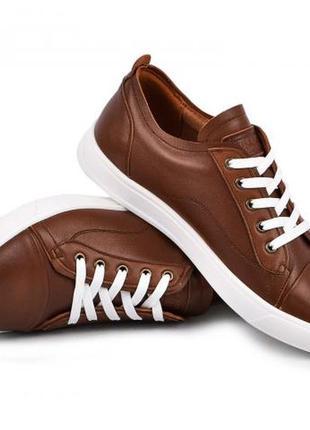 Мужские стилтные кеды кроссовки натуральная кожа