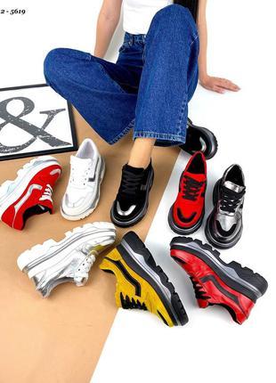 Кросівки трактора натуральні в різних кольорах \ кроссовки натуральные разные цвета