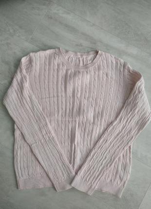 Нежно розовый свитер h&m , розовая кофта h&m
