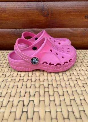 Crocs детские тапочки оригинал с9 размер 26