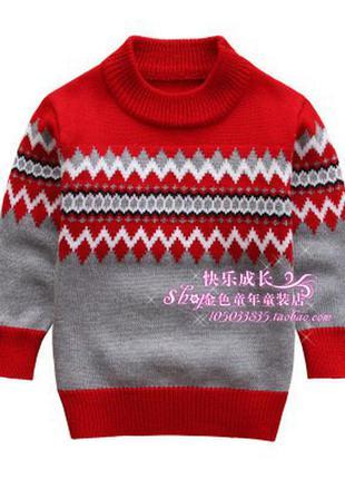Свитер акриловый для мальчика , новогодний свитер