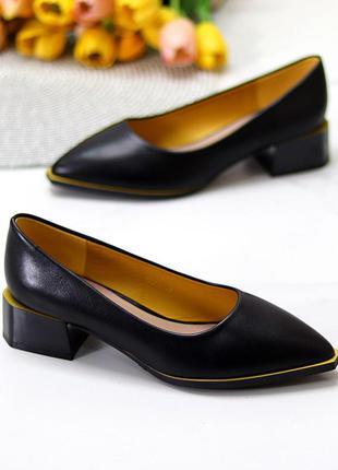 """Туфли """"damo"""", чёрные, экокожа"""