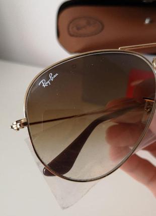 Очки  rb 3025 001 солнцезащитные коричневые градиент ray ban оригинал градиент унисекс