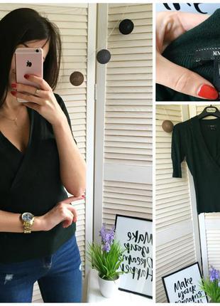 Модная классическая кофта с 3/4 рукавом и v-образным воротником