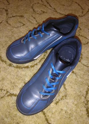 Кожаные кроссовки/спортивные туфли clarks (натуральная кожа)