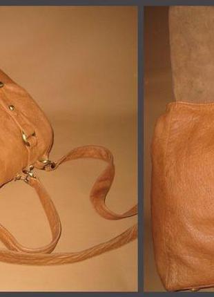 Большая кожаная сумка topshop