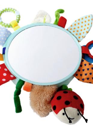 Игрушка подвеска на коляску play tive мягкая погремушка грызунок зеркало для деток от 0 мес