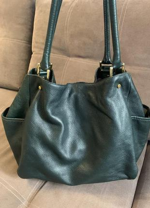 Кожаная сумка yves saint laurent
