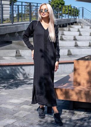 Платье женское хлопковое платье тёплое лето-осень