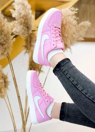 Кроссовки женские nike air force pink  нежно розовые размеры: 36-40