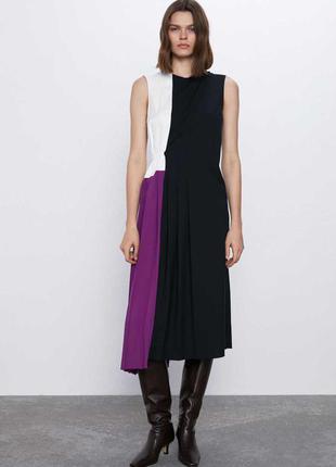 Сукня міді zara платье миди новое