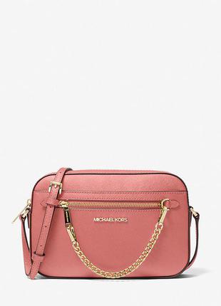 Яркая сумочка кроссбоди модного бренда michael kors из сафьяновой кожи! оригинал!