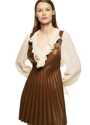 Платье сарафан из еко кожи от zara