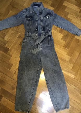Продам джинсовый комбинезон h&m