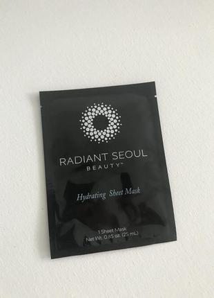Увлажняющая маска radiant seoul, hydrating sheet mask 1 sheet mask 25 мл