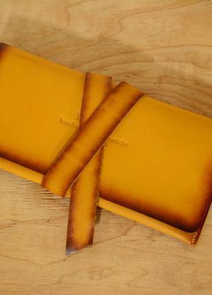 Итальянская кожа. ручная работа. кожаный кошелек, клатч с закруткой.