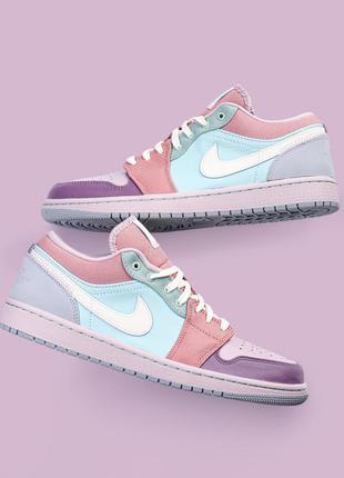 """Жіночі оригінальні кросівки nike air jordan 1 low """"easter pastel"""" кроссовки"""