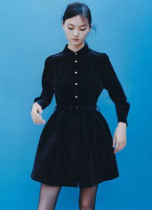 Zara вельветовое платье , xs, s, m, l