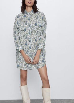 Стильне плаття сорочка оверсайз zara