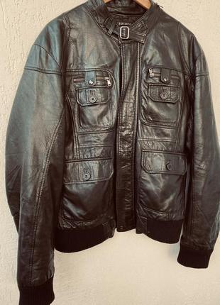 Кожаная куртка, бомбер, италия