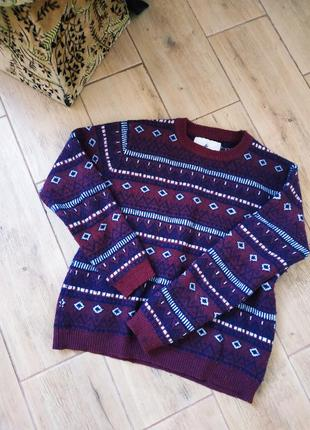 Фирменный теплый свитер кофта