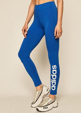 Adidas трикотажные хлопковые лосины леггинсы адидас чёрные спортивные штаны