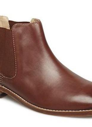 Clarks ellia amber кожаные новые полусапожки ботинки челси женские деми премиум, р.37
