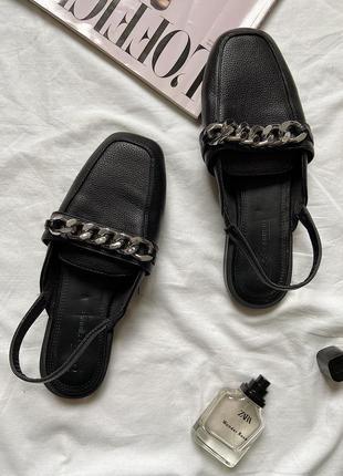 Стильні шльопанці/лофери/босоніжки,чорного кольру