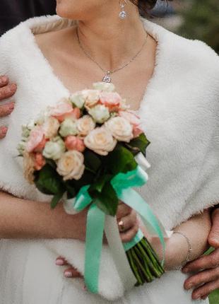Накидка шубка свадебная