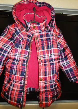 Утепленная демисезонная куртка charles vogele на девочку р.92 (1-3год)
