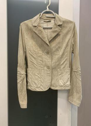 Замшевый, кожаный пиджак, жакет, натуральная кожа