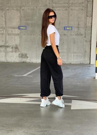 Спортивные черные штаны брюки повседневные женские спортивные штаны