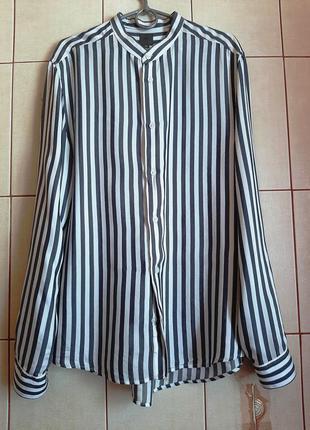Базовая рубашка в полосочку из 100% вискозы