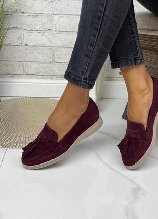 36-41 рр туфлі, лофери з пензликами натуральна шкіра / замша