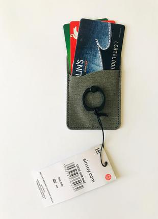 Попсокет, держатель для телефона с кольцом и карманом для карт
