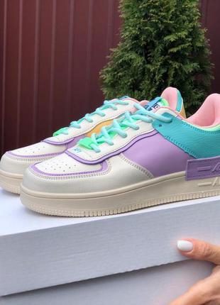 Женские кроссовки  в стиле nike air force  разноцветные