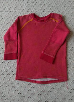 Термореглан двухслойний шерсть мериноса термо кофта футболка лонгслив термобілизна термобелье шерстяное