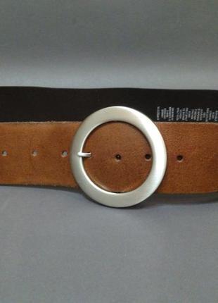 Широкий кожаный ремень пояс 100% натуральная кожа c&a made in germany