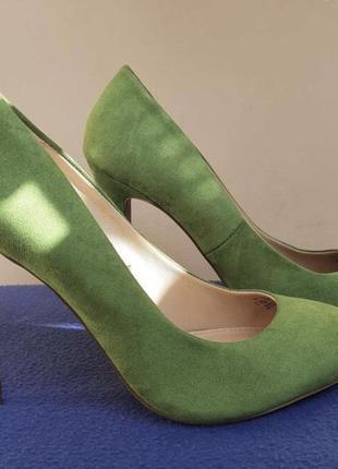 Туфли зелёные салатовый zara