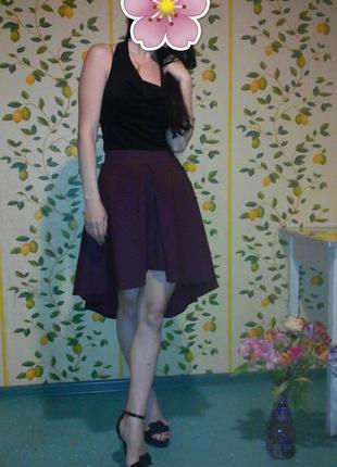 Юбка с мини шлейфом