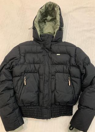 Укорочённая куртка, пуховик, оверсайз, пух/перо, винтажный nike, оригинал