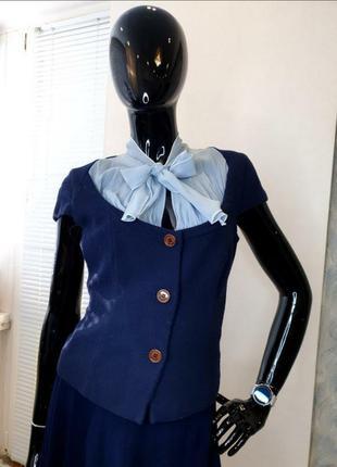 Жакет-блуза синего цвета