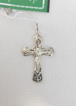 Новая серебряная подвеска крестик серебро 925 пробы