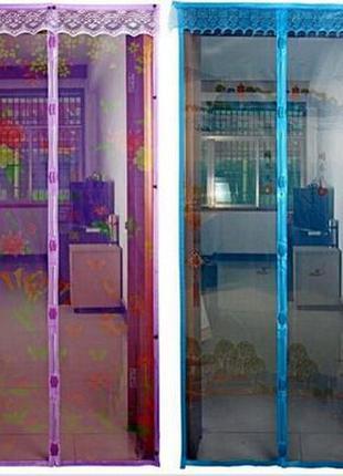 Антимоскитная магнитная дверная сетка. штора-сетка