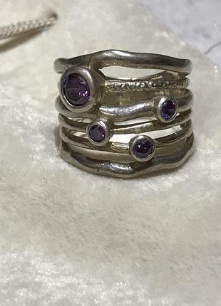 Серебряное кольцо из барселоны