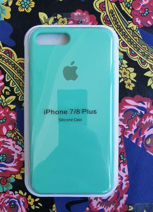 Чехол iphone 7 plus 8 plus silicone case айфон чохол (+ стекло в подарок)
