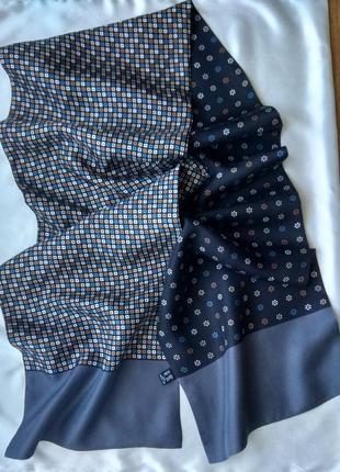Шикарный 100% шелковый  двойной двусторонний шарф италия
