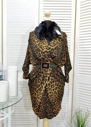 Платье туника тигровое леопардовый принт модное плаття , стильное