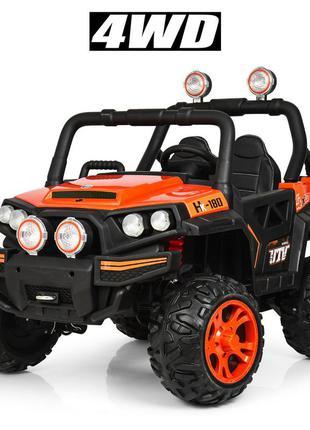 Детский электромобиль bambi racer джип m 3825 eblr-7 четырехмоторный нагрузка 30 кг (1100181)