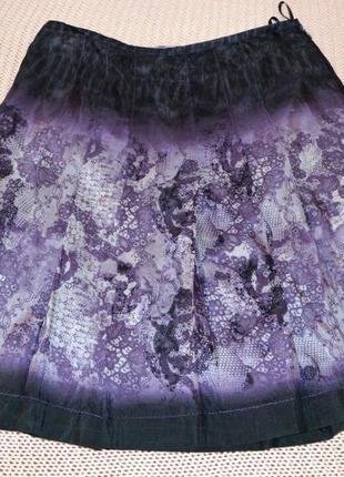 Marc aurel юбка миди из натурального шелка.
